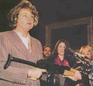 Diane Feinstein with gun