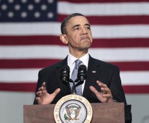 Obama at Podium